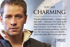 Which Once Upon a Time character are you? I'm Charming.