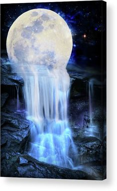 Melted moon Acrylic Print