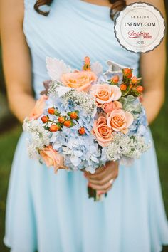 Spring and summer are a great time to experiment with color in your flowers! #lesalon #bridal #bouquets #wedding #decor #brides #weddings #ideas #reception #color #themes