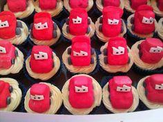 Lightning McQueen Disney Pixar Cars fondant cupcakes