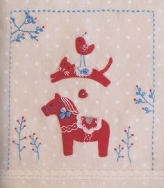 Lovely red pony hand embroidery stitch sewing applique patchwork quilt PDF E Patterns. $5.00, via Etsy.
