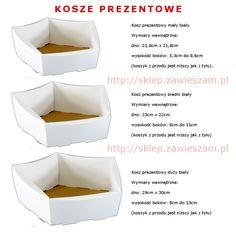 Koszyki prezentowe białe