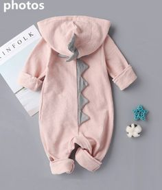 caf39d5df6e Dinosaur Newborn Boy Girl Rompers Halloween Christmas Baby Outerwear  Clothing Size 36 Months Pink --