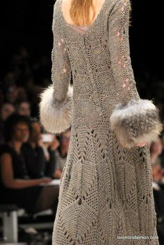 Love the fur at the wrists. Perhaps for the winter white coat.