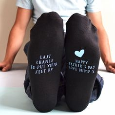 Personalised Socks - Happy Father's Day From The Bump   GettingPersonal.co.uk