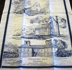Stratford Hall Plantation Linen Kitchen Hand Tea Towel Wall Hanging Virginia New #Stratford #Virginia #TeaTowel