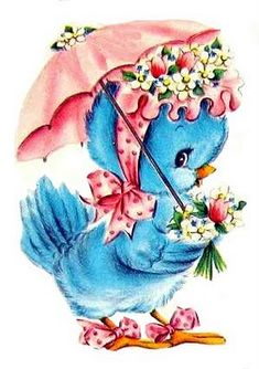 ♥ Vintage Blue Bird Love♥ Freebie Image | *Free ♥ Pretty ♥ Things ♥ For ♥ You*