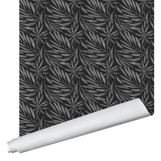 Eden Leaf Wallpaper - Traditional / Gray / 2' x 12'