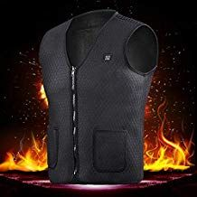 lzndeal Heating Vest,Security Intelligent,Unisex,Warm,Electric Heating Vest Heated Pad Clothes Winter Warm Body Warmer with 5V USB Charger