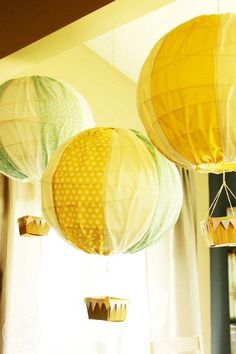 Try This: Hot Air Balloons - Top 28 Most Adorable DIY Baby Projects Of All Time. Why do I love this?