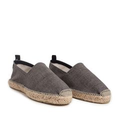 Charcoal Grey Espadrilles
