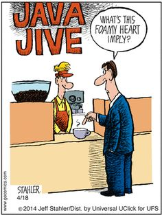 """""""Moderately Confused"""" by Jeff Stahler - Coffee Purist"""