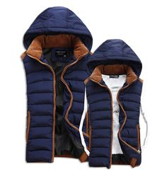 >> Click to Buy << Hot Sale Stars Loves Brand New Arrival Slim Man Vest 2016 Autumn Winters Hooded Cotton Padded Men's Vests 4 Colors 5 Size #Affiliate