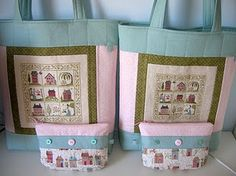 Cute bags with coordinating pouches