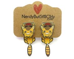 Catbus Cling Earring by nerdgirlwensi on Etsy