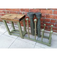 Welly rack, boot rack, Shoe rack, hallway bench with shoe rack to base rustic industrial various colours available - Top Handmade UK Shoe Rack Hallway, Hallway Bench, Long Hallway, Hallway Ideas, Boot Storage, Bench With Shoe Storage, Storage For Boots, Outdoor Shoe Storage, Porch Storage