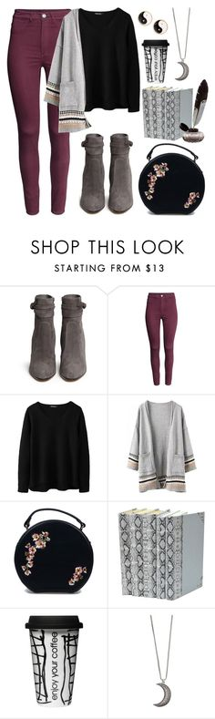 """Day at the library #4"" by leah1992 ❤ liked on Polyvore featuring Gianvito Rossi, H&M, Dot & Bo, Gypsy Warrior, Mudd, hogwarts, library, exam and hogwartslibrary"