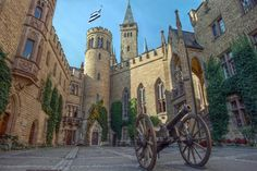 The courtyard of castle Hohenzollern in Germany