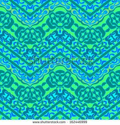 Colorful ethnic hand drawn pattern with zigzag lines. Vector seamless texture for web, print, home decor, textile, wrapping paper, wallpaper, invitation card background, summer fall fashion fabric  - stock vector