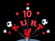 NAME, AGE LIVERPOOL FOOTBALL BIRTHDAY CAKE TOPPER