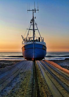 Thorup Strand in Northern Denmark where fishing boats are still pulled up on shore