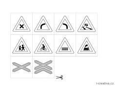 Obrázky dopravní značky k vytisknutí | i-creative.cz - Kreativní online magazín a omalovánky k vytisknutí Coloring, Crafting, Signs, Games, Creative, Socialism, Social Studies, Shop Signs, Craft