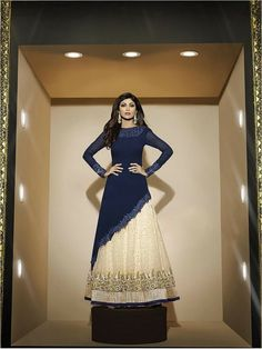 Blue Partywear Georgette Suit