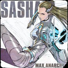 Sasha - Anarchy Reigns fan art Platinum Games, Video Game Development, Sonic Art, Game Character, Character Reference, Xmen, Anarchy, Reign, Video Games