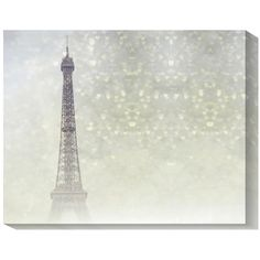 Gallery-wrapped canvas giclee print of the Eiffel Tower. Product: Wall artConstruction Material: Canvas and wood...