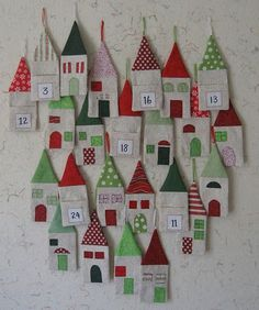 Love love love these advent houses!!!! Cdn't be too hard surely????????? Will try next Christmas .....