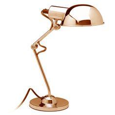 Lampe de bureau en m�tal articul� et orientable hauteur 40cm diam�tre 14cm TEA