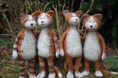 Filzkram: Katzen und ein Gedicht ~ Get Ozzi #Cat #Magazine - All about #cats! >> http://OzziCat.com.au