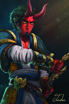 Tiefling Inquisitor https://www.reddit.com/r/DnD/comments/6j6qas/art_so_i_kept_meaning_to_post_this_but_things_got/