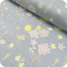 Tissu japonais Nani Iro - Sen Ritsu gris