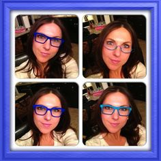 We're trying to convince @Justyna Pikul to wear glasses more often. What better way than to get her wearing a Theo eyewear? Which frame is your favourite on her? #nofilter #ebo #eyewear #eyewearbyolga #theo #glasses #blue #frames #color #colour #teal #yolo #swag #fun #lef