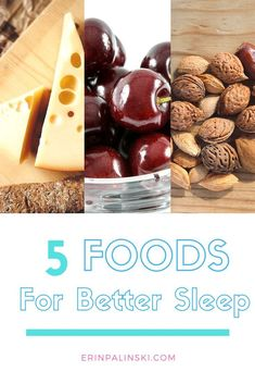 5 foods for better sleep. #healthy #wellness #betterlife #bettersleep