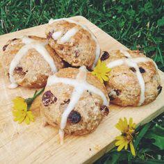 Vegan Gluten Free Hot Cross Buns - Plantbased Pixie