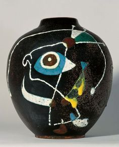 Miró.Vase,1946,Stoneware  Signed and dated on the base: 1946. @Deidré Wallace