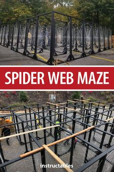 Spider Web Maze – Instructables Spider Web Maze This kid-friendly spider web halloween maze is great for little children because you can see through it and you can't get lost or turned around as there is only 1 route option. Halloween Tags, Halloween School Treats, Halloween Haunted Houses, Halloween Porch, Halloween Festival, Outdoor Halloween, Halloween Projects, Holidays Halloween, Spooky Halloween