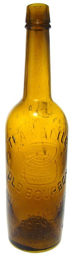 TEAKETTLE OLD BOURBON SHEA, BOQUERAZ & MCKEE AGENTS SAN FRANCISCO. Thomas 136. 1871-87. -