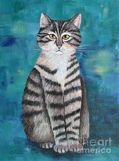 Little Tiger Print By Jutta Maria Pusl