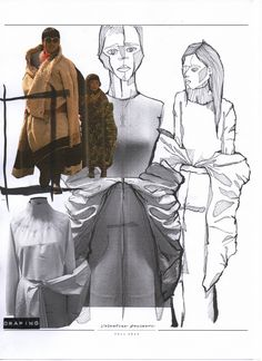 Re-constructing Heritage - ArtsThread - Fashion Sketchbook – fashion sketches & draping development; Sketchbook Layout, Textiles Sketchbook, Sketchbook Inspiration, Csm Sketchbook, Illustration Mode, Fashion Illustration Sketches, Fashion Sketches, Illustrations, Drawing Fashion