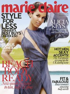 Alicia Keys for Marie Claire UK July 2013.