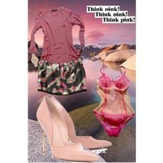 Think PINK ! Luxury Fashion, Dress Up, Two Piece Skirt Set, Sequins, Style Inspiration, Stilettos, My Style, Skirts, Polyvore