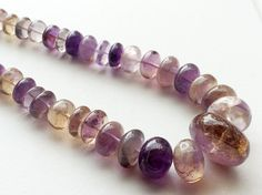 Ametrine Plain Rondelles 6.5mm  21mm 20 Inch by gemsforjewels