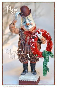 Rucus Studio Cheerful Chap Snowman Christmas Design, Christmas Art, Snowmen Ideas, Scott Smith, Santa Doll, Christmas Crafts, Christmas Ornaments, Frosty The Snowmen, Christmas Characters