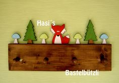 """Wardrobes – Children's wardrobe """"Forest"""", wood, hook strip – a unique product by Hasis-Bastelbuetzli on DaWanda Source by Diy Home Crafts, Wood Crafts, Fun Crafts, Diy Nightstand, Wood Toys, Baby Room Decor, Cool Rooms, Cool Diy, Baby Quilts"""