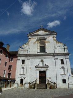 St Francis de Sales church, Annecy, France Annecy France, My Photos, Saints, Mansions, House Styles, Nooks, Castle, City, Viajes