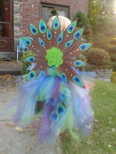 My version of the kids peacock costume