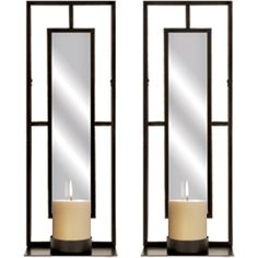 mirrored candle sconces